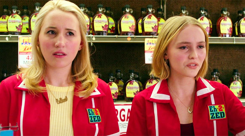 Harley Quinn Smith (left) as Colleen McKenzie and Lilly-Rose Depp (right) as Colleen Collette.