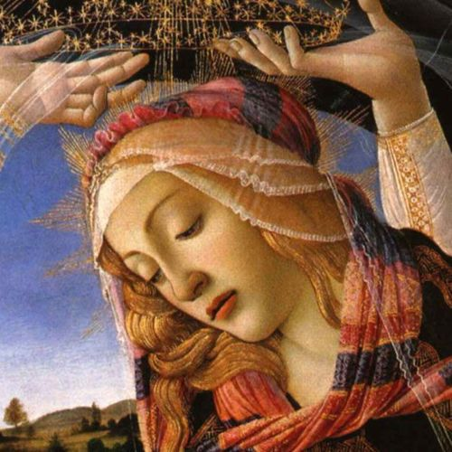 Mary - detail of Botticelli