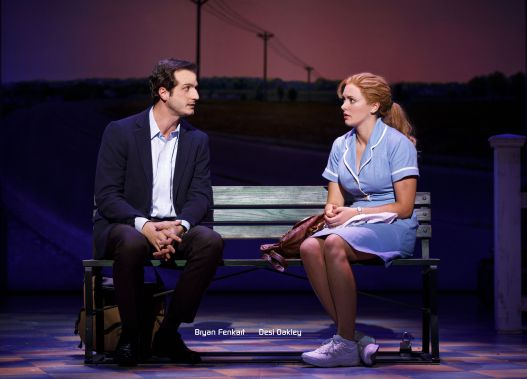 Bryan Fenkart and Desi Oakley in the National Tour of WAITRESS w name.jpg