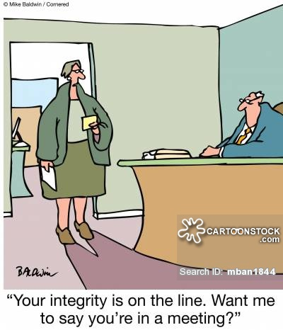 Image result for cartoon lack of integrity