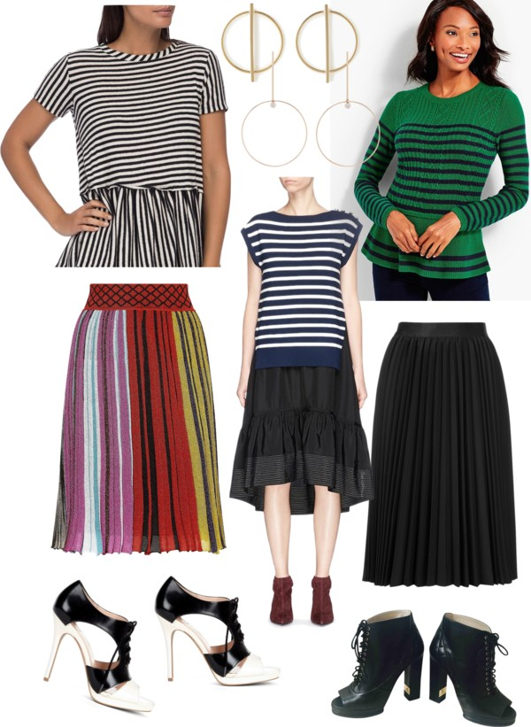 Pep Squad - peplum sweater and midi skirt