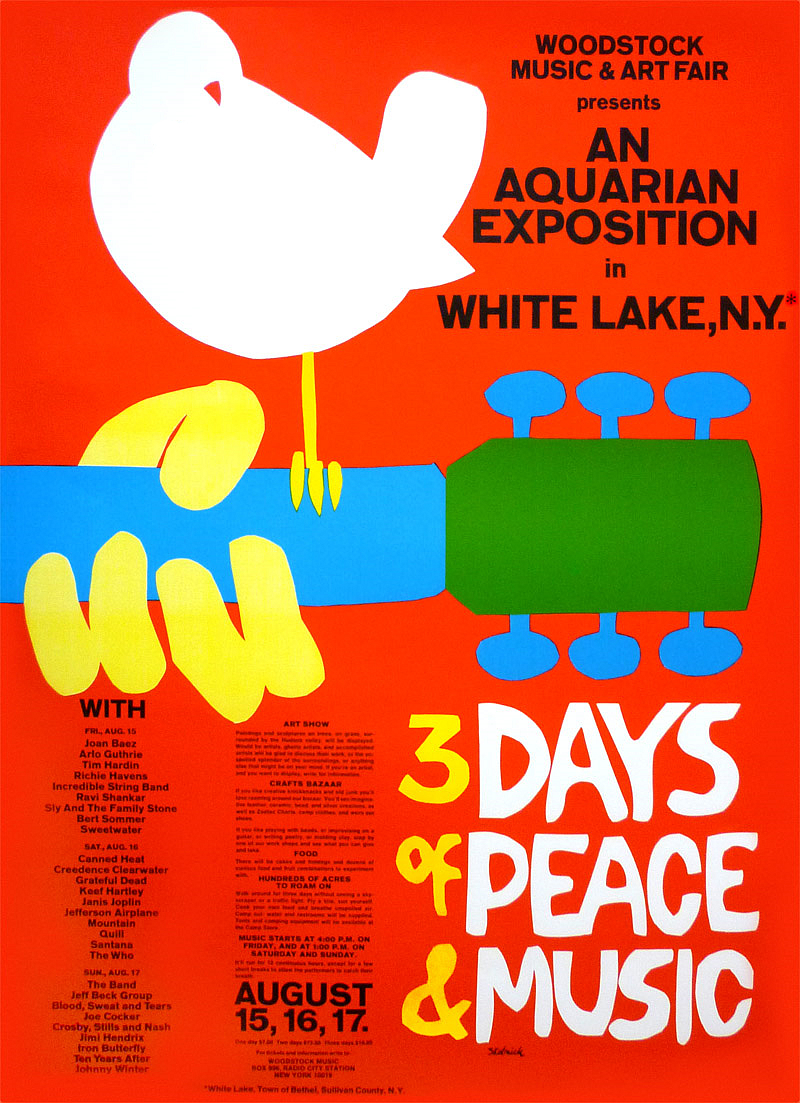 Image result for woodstock flyer