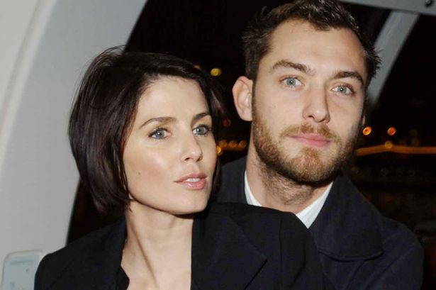 Jude Law with his ex-wife Sadie Frost in 2003
