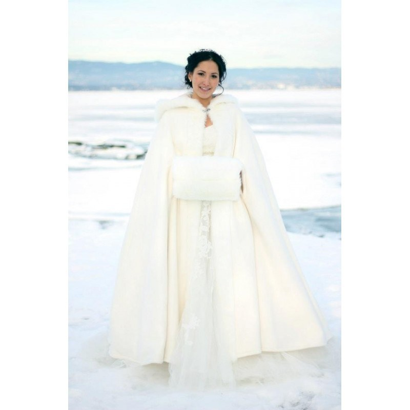 Ankle Length Winter Wedding Cloak 0