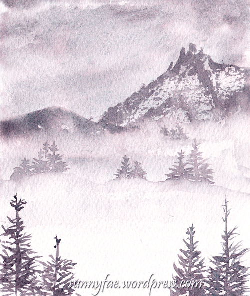 misty mountain fir trees 1
