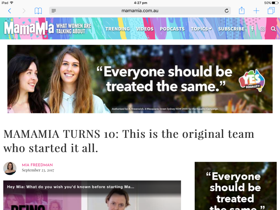 Article: MAMAMIA TURNS 10: This is the original team who started it all