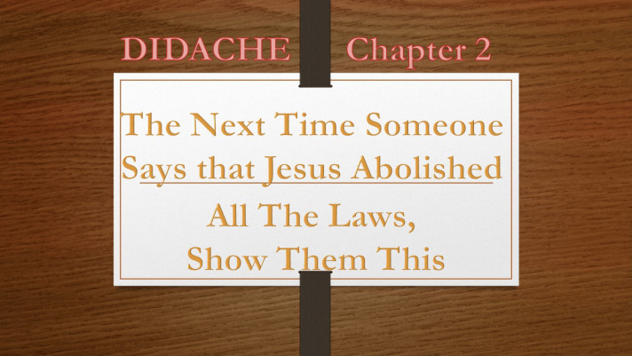 Didache 2