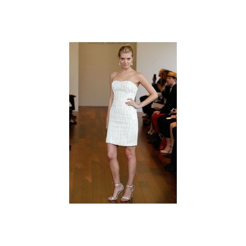 Isabelle Armstrong SP2015 Dress 10 - Spring 2015 Strapless Mini A-Line White Isabelle Armstrong 0