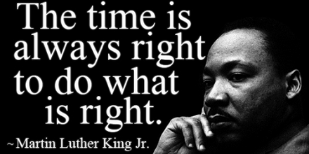 MLK time is right