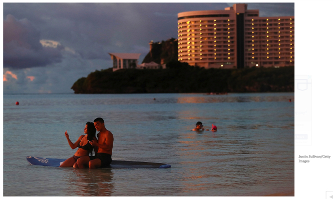 2 surfers at Guam, from NYT 2017-08-18 (w)